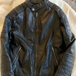 Zara Boys Collection Leather Jacket 10